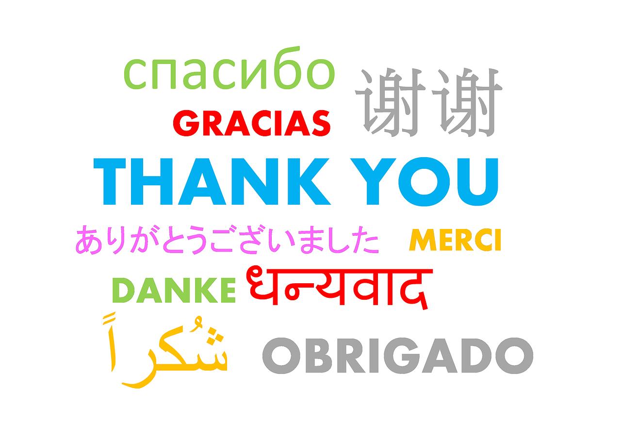 Grazie in varie lingue