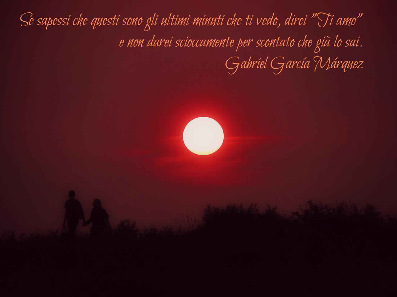 Innamorati al tramonto