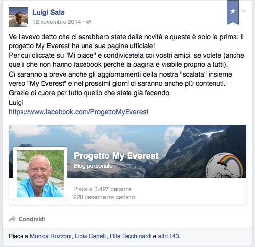 un anno di My Everest