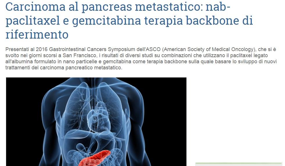 Carcinoma al pancreas metastatico