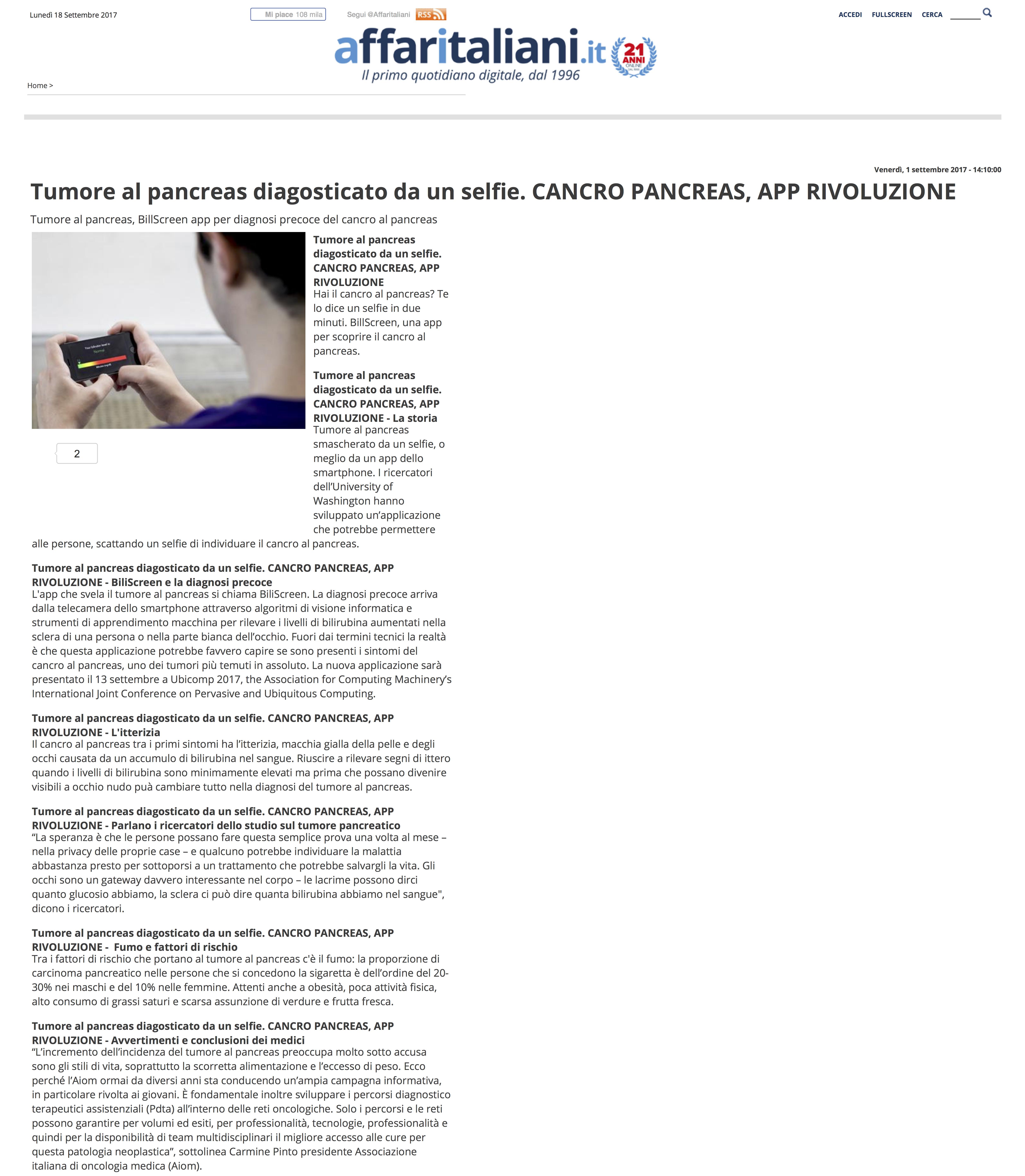 app per diagnosi precoce